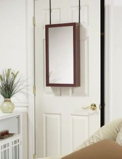 25 MIRROR JEWELRY ARMOIRE CABINET OVER DOOR ORGANIZER OR WALL HANG