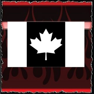 Canada Flag airbrush stencil template harley paint