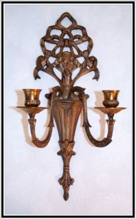 Regency Metal Victorian Styled Ornate Wall Decor Candle Holder