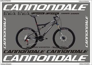 CANNONDALE RZ ONE TWENTY stickers graphics decals cannondale bikes