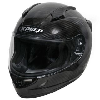 XCF3000 Carbon Fiber Full Face Motorcycle Sportbike Helmet Large LG