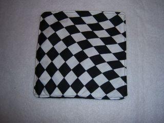 MOUSE MAT Waving Checkered Flag print fabric NO PAD for Nascar theme