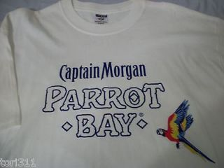 Captain Morgan Parrot Bay Beer Jerzees T Shirt Size XL New Without