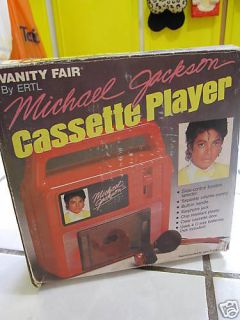 RARE VINTAGE MICHAEL JACKSON CASSETTE PLAYER IN BOX 84