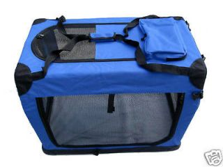 42 Portable Blue Pet Dog House Soft Crate Carrier