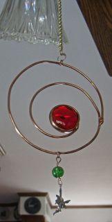 swirl & stained glass ceiling fan light chain pull w/