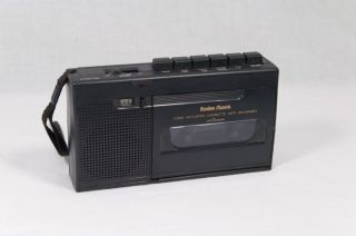 Radioshack Voice Activated Cassette Tape Recorder CTR 76