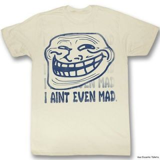 Licensed You Mad? Troll Face meme Aint Even Mad Adult Shirt S 2XL