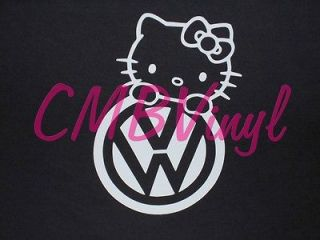 Hello Kitty Volkswagon Vinyl Decal/Sticker Car Truck Laptop Window