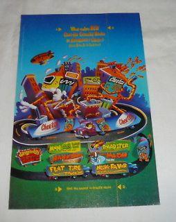 1997 CHESTER CHEETAH Cheetos ad page ~ Crunchy Nacho Fold In