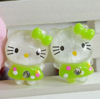 Glitter Hello Kitty Cats Flat back appliques/craft/Cabochon T62