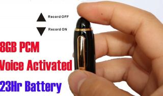 Spy Voice Activated Pen Audio Voice Recorder 8GB 23Hr Battery SHQ PCM