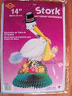 Beistle 14 Art Tissue Stork Centerpiece Baby Shower Decoration NOS
