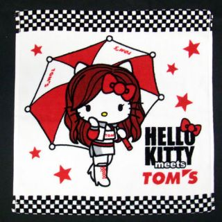 Hello kitty x TOMS Hand towel SANRIO 1400 Limited from JAPAN