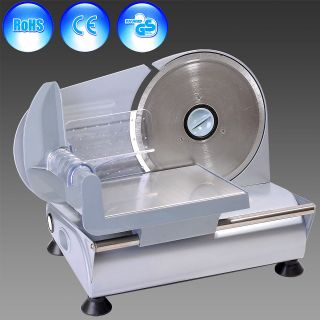 Steel Blade 7.5 150W Electric Meat Food Slicer Deli Bread Bacon Cutter