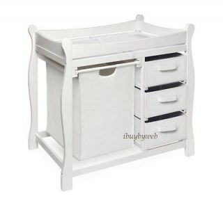 White Changing Table in Changing Tables
