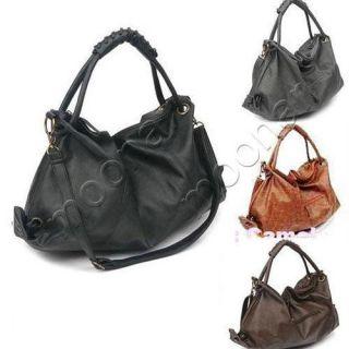 Womens Large Hobo PU leather handbags shoulder Totes Casual Bag Free