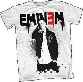 Eminem Sprayed Up Logo Hip Hop Rap Officially Licensed Adult T Shirt S