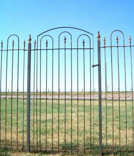 Metal Wrought Iron Gate Goes With 6 Fence   Fencing
