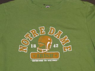 Champion Notre Dame Football Onward To Victory Distressed Tee Women