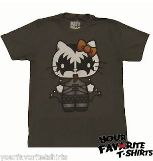Kiss Band Hello Kitty Hello Gene Simmons Licensed Adult T Shirt S XL