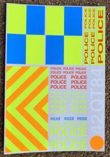 RC POLICE INTERCEPTOR 1/10th scale decals stickers SUBARU MITUBISHI