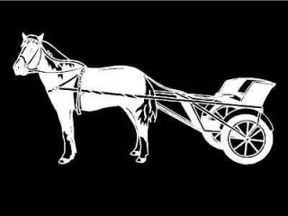 Miniature Horse with Cart Western Car Truck Window Vinyl Decal Graphic