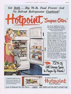 1952 =VINTAGE AD   HOTPOINT REFRIGERATOR #6