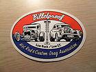 Billetproof Hot Rod & Custom Drag Association Sticker Fuel Altered AFX
