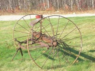 1800S Horse Drawn Hay Rake Vintage/Antique Farm Equipment JOHN DEERE