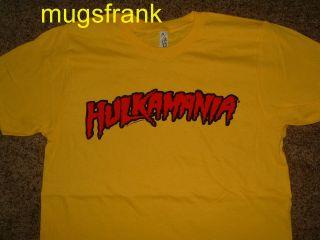 Hulk Hogan Hulkamania Wrestling Yellow T Shirt