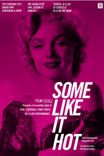 Vintage Classic Movie Poster Print SOME LIKE IT HOT w Marilyn Monroe
