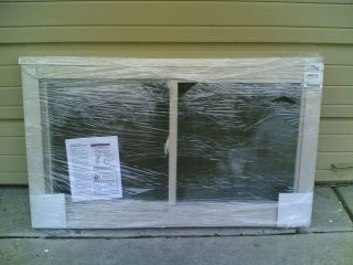 BRAND NEW Nice BEIGE VINYL House Home SLIDER WINDOW 48x28 (no