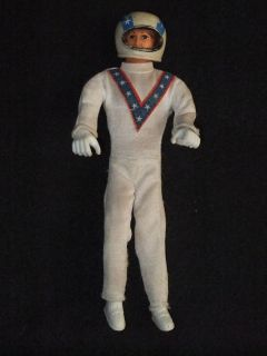 VINTAGE c1970s EVEL KNIEVEL 7 FIGURE DOLL WITH HELMET BY IDEAL