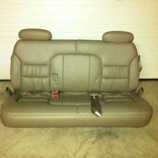 1995 1999 Chevy GMC Suburban Tan 3rd Row Bench Seat