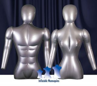 His & Her Special   Inflatable Mannequin   Torso Forms with head