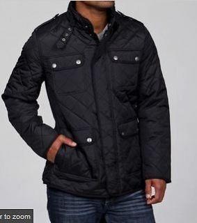 New Mens Steve Madden Jacket Black Insulated Coat Medium M