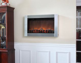 wall mounted electric fireplace in Fireplaces