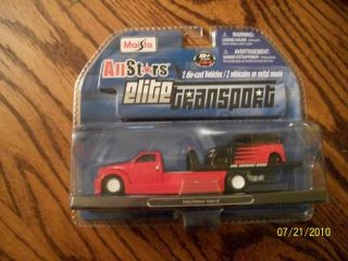 64 Red Rollback Wrecker Flatbed Tow Truck w/ Toyata Scion XB Car