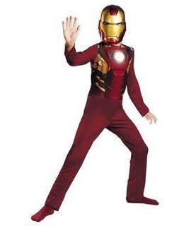 MARK VII costume dress up Size 7/8 10/12 Iron Man Avengers mask