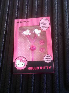 HELLO KITTY EARBUDS HEARTS FOR ALL I PHONES,IPODS,IPAD, /MP4