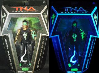 GLOW PAINT JEFF HARDY   RINGSIDE EXCLUSIVE TNA JAKKS TOY WRESTLING