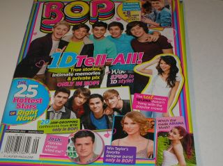 magazine , sept. 2012 . ONE DIRECTION tell all, justin bieber poster