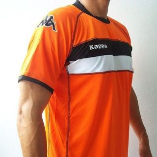 KAPPA Mens Football Soccer Jersey Shirt Orange M L XL