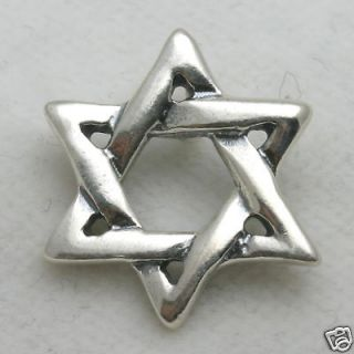 NEW Sterling Silver Jewish star of David solid handmade