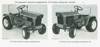 john deere lawn tractor 110 in Home & Garden