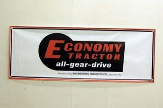 Vintage Economy All Gear Drive Power King Lawn Tractor Mini Banner 11