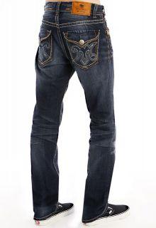 Mek Denim MENS Jodhpur Dark Blue Straight Leg Jeans 38 42