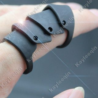 Chic Celebrity Matt Black Armour Hinged Finger Ring Goth Punk Nana