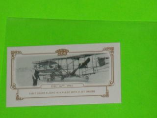 Topps 206 Mini Historical Events #HE20 1st Jet Engine Plane Flight SP